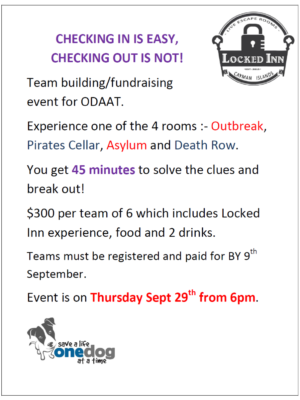 Locked inn event updated